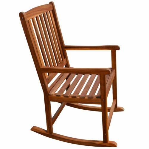 Cadeira de baloiço para jardim de madeira de acácia