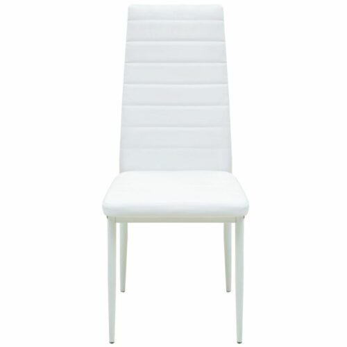 Mesa de jantar e cadeiras 5 pcs em couro artificial