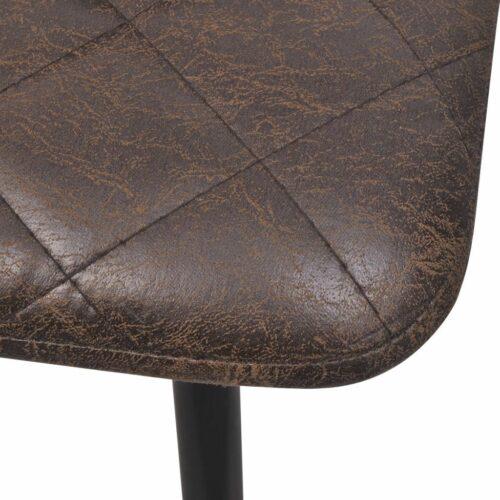Cadeiras de jantar 2 pcs couro artificial castanho escuro