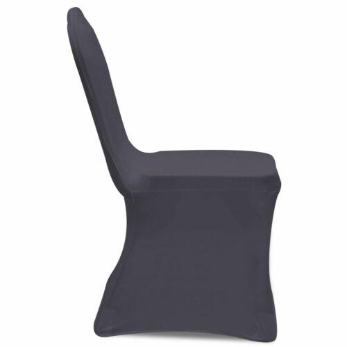 Capa extensível para cadeira 6 pcs antracite