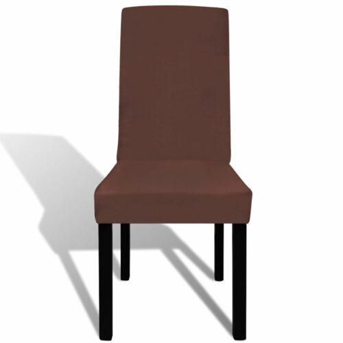 Capa extensível para cadeira 4 pcs castanho