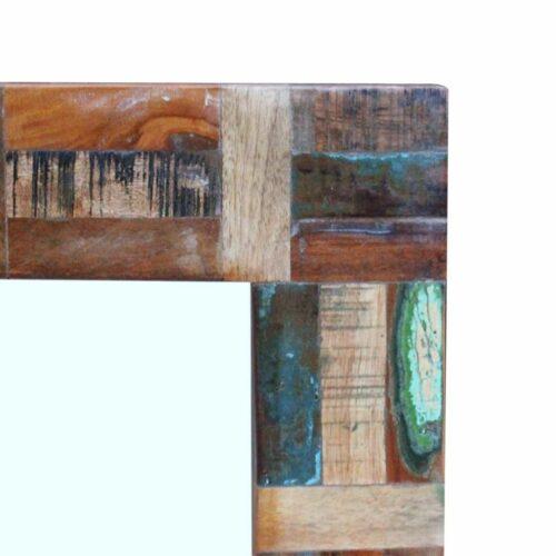Espelho em madeira recuperada maciça 80×50 cm