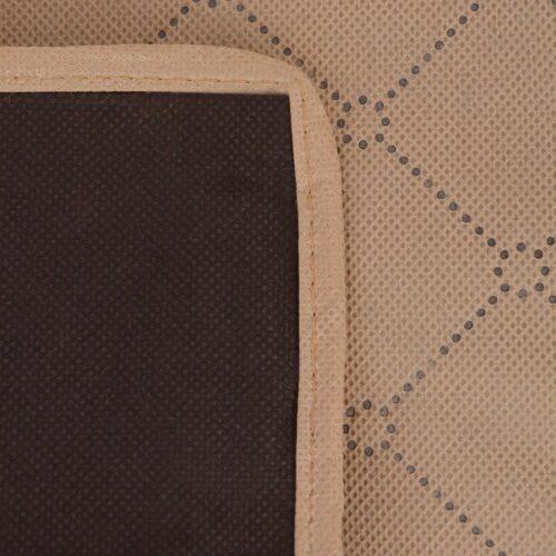 Toalha de piquenique bege e castanho 150×200 cm