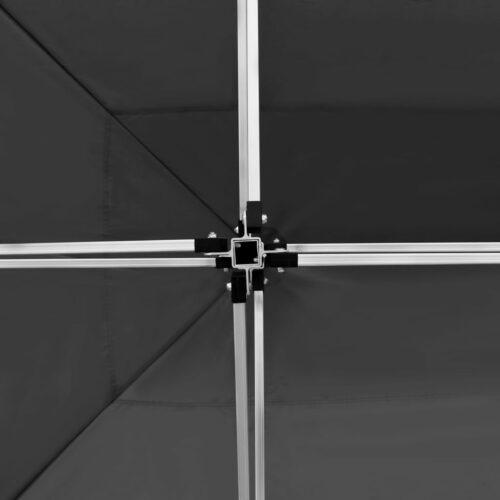 Tenda dobrável profissional c/ parede alumínio 4,5x3m antracite