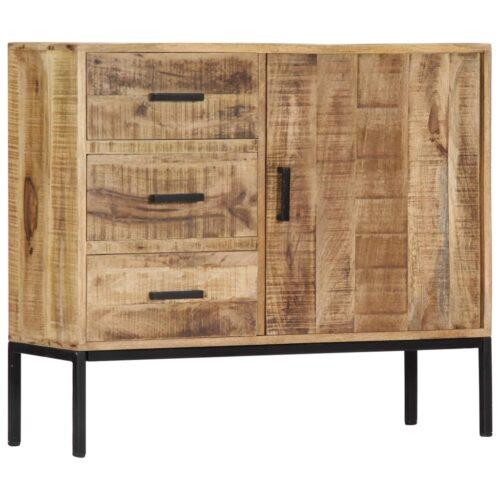 Aparador 88x30x71 cm madeira de mangueira maciça