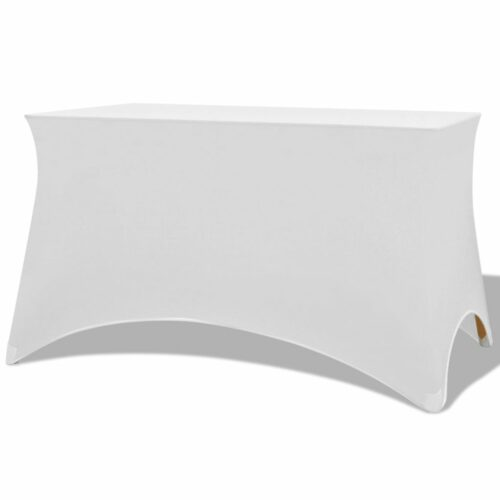 vidaXL Capa extensível para mesa 2 pcs 120×60,5×74 cm branco