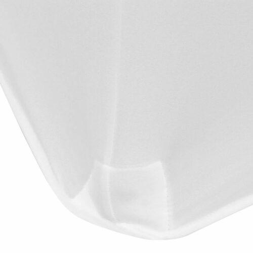 Capa extensível para mesa 2 pcs 120×60,5×74 cm branco