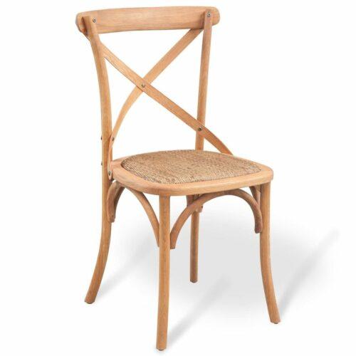 vidaXL Cadeira de jantar 48x45x90 cm madeira carvalho maciça
