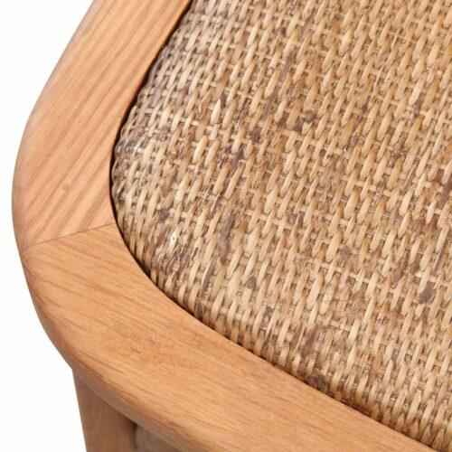 Cadeira de jantar 48x45x90 cm madeira carvalho maciça