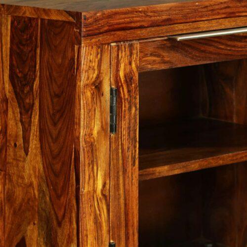 Aparador em madeira de sheesham maciça 100x35x140 cm