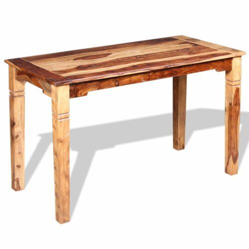 vidaXL Mesa de jantar em madeira de sheesham maciça 120x60x76 cm