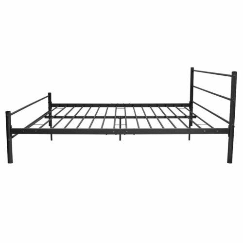Cama com colchão 180×200 cm metal preto