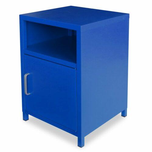 vidaXL Mesa de cabeceira 35x35x51 cm azul