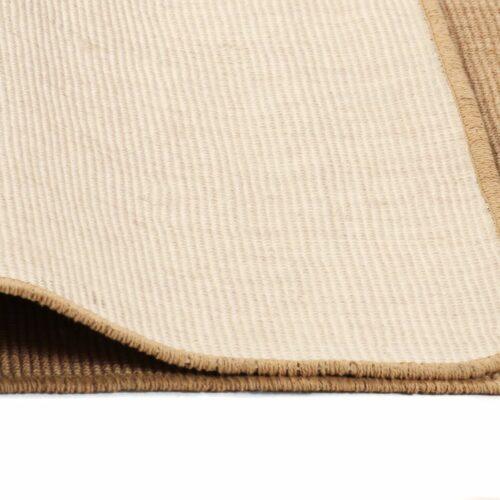 Tapete de divisão em juta com apoio de látex 160×230 cm natural