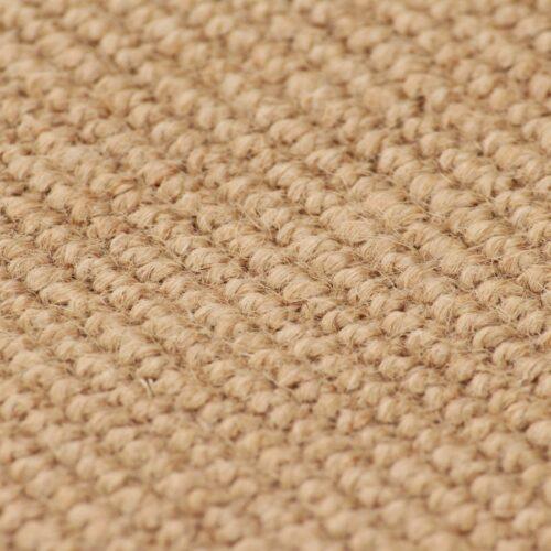 Tapete de divisão em juta com apoio de látex 190×240 cm natural