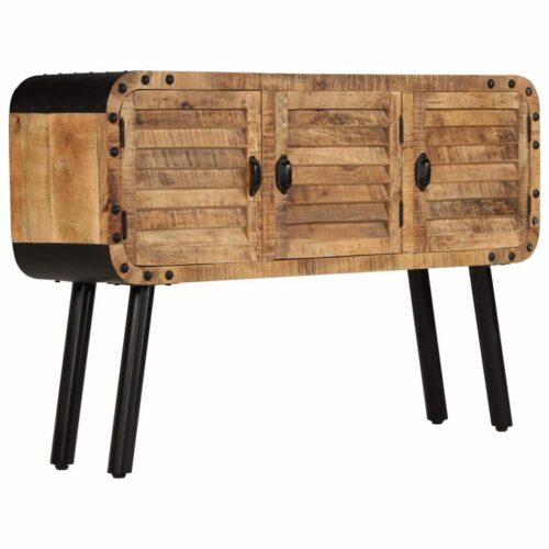 vidaXL Aparador em madeira de mangueira maciça 120x30x76 cm