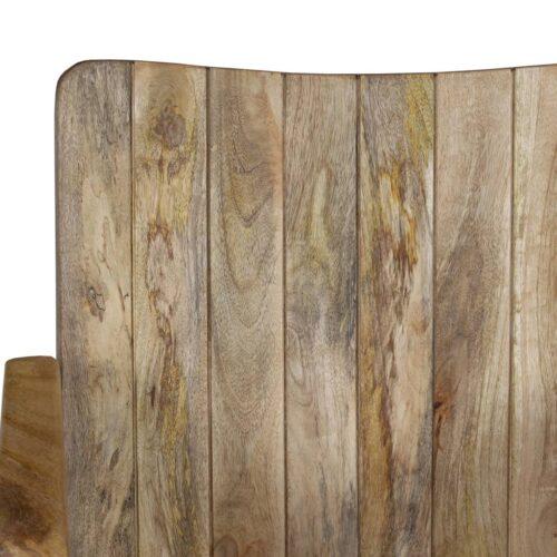 Banco de 2 lugares madeira de mangueira maciça/aço 102x55x83cm