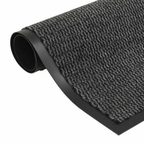 vidaXL Tapete controlo de pó retangular tufado 80×120 cm antracite