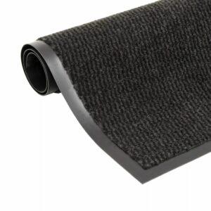 vidaXL Tapete controlo de pó retangular tufado 90×150 cm preto