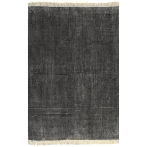 vidaXL Tapete Kilim em algodão 160×230 cm antracite