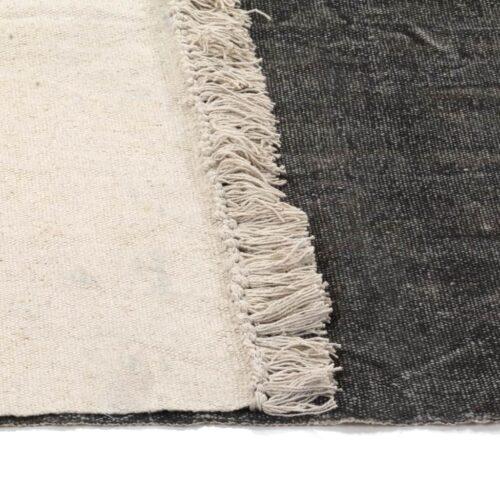 Tapete Kilim em algodão 160×230 cm antracite