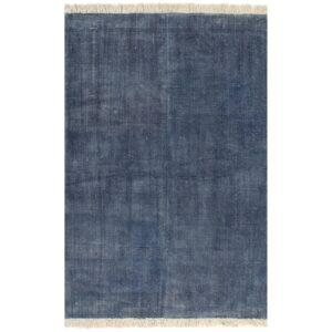 vidaXL Tapete Kilim em algodão 200×290 cm azul