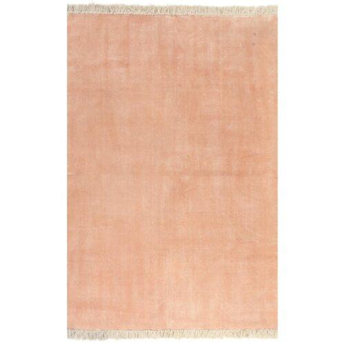 vidaXL Tapete Kilim em algodão 200×290 cm rosa