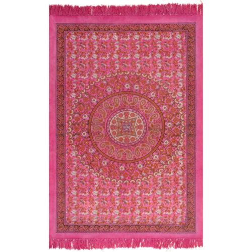 vidaXL Tapete Kilim em algodão 120×180 cm com padrão fúcsia