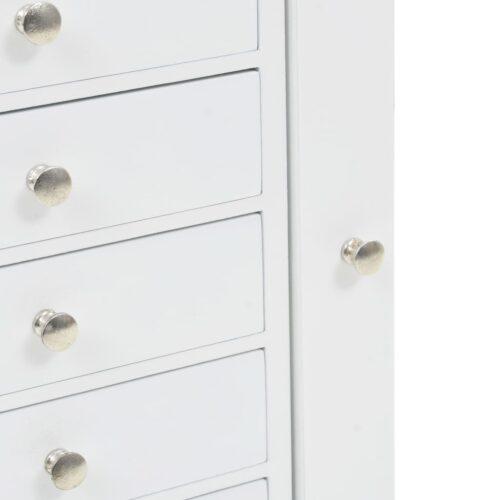 Móvel guarda-joias de pé branco
