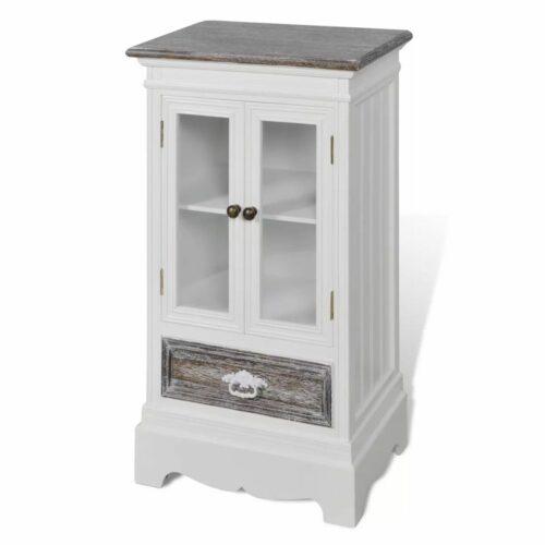 Armário 2 portas 1 gaveta madeira branca