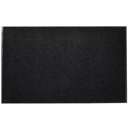 Tapete de entrada com nervuras PVC Preto 90 X 150 cm