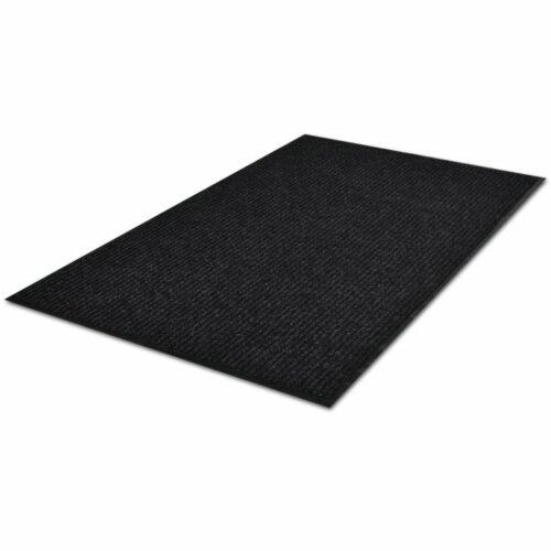 Tapete preto para porta em PVC 120 x 180 cm
