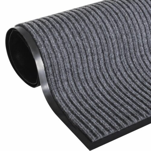 Tapete cinzento para porta em PVC 90 x 120 cm