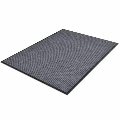 Tapete de entrada com nervuras PVC Cinza 90 X 150 cm