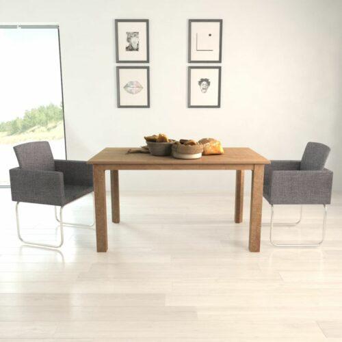 vidaXL Cadeiras de jantar 2 pcs cinzento escuro