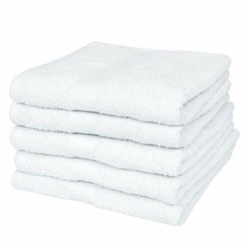 vidaXL Conjunto toalhas hotel 50 pcs algodão 400 g. 30×30 cm branco