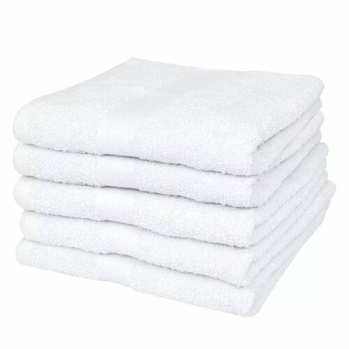 Conjunto toalhas hotel 50 pcs algodão 400 g. 30×30 cm branco