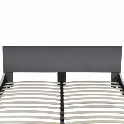 Cama com colchão couro artificial 180x200cm cinzento