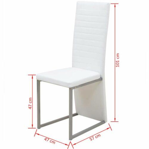 Cadeiras de jantar 4 pcs branco
