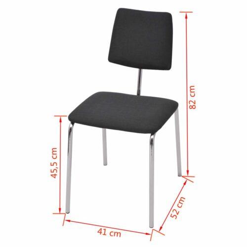 Cadeira de jantar em tecido preto