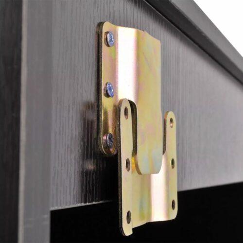 vidaXL Conjunto móveis casa de banho 11 pcs com bacia e torneira preto