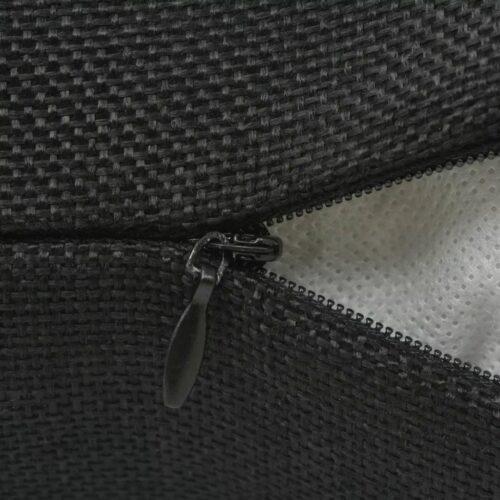 Capa de almofada 4 pcs aspeto linho preto 50×50 cm