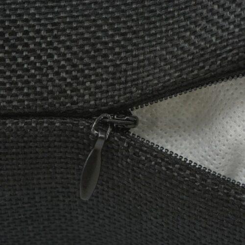 Capas almofada 4 pcs aspeto linho preto 80×80 cm