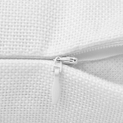 Capas almofada 4 pcs aspeto linho branco 40×40 cm