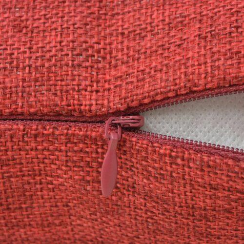 Capa de almofada 4 pcs, aspeto de linho, bordô, 80×80 cm