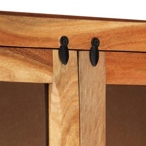 Armário alto 100x40x175 cm madeira de acácia maciça