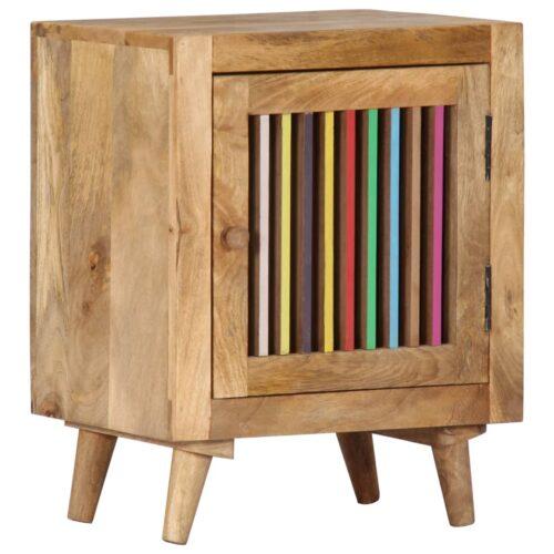 vidaXL Mesa-de-cabeceira 40x30x50 cm madeira de mangueira maciça