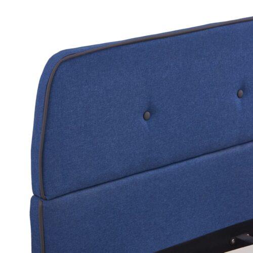 Estrutura de cama 140×200 cm tecido azul