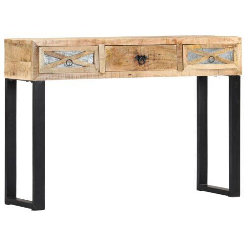 vidaXL Mesa consola 110x30x76 cm madeira de mangueira maciça