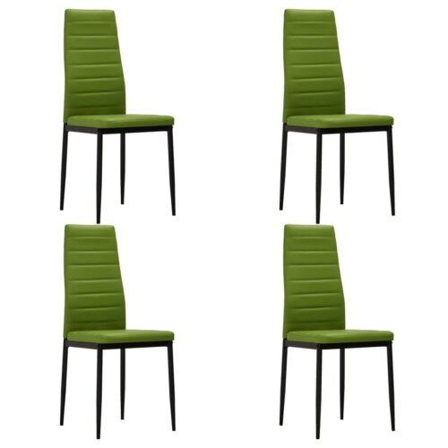 vidaXL Cadeiras de jantar 4 pcs couro artificial verde lima